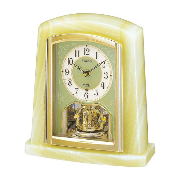 SEIKO(セイコー)置時計 オニキス枠