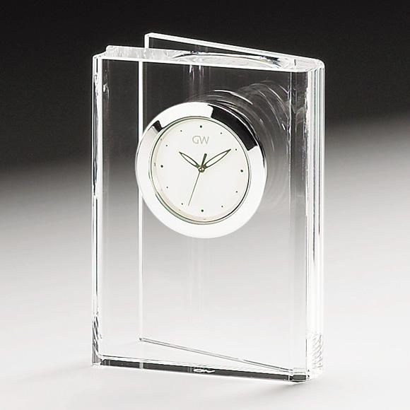 ガラス 時計「ブック」