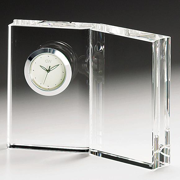 ガラス 時計「ディクショナリー」
