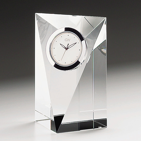 ガラス 時計「プリズムM」