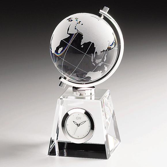 ガラス 時計「グローブ」