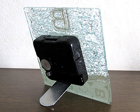 ベネチアンガラス置き時計 GO041