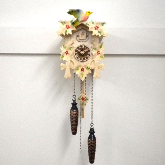 森の時計、木製からくり鳩時計 522/7QM