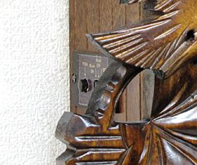 森の時計、木製からくり鳩時計 635QMT