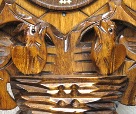 森の時計、木製からくり鳩時計 640QMT