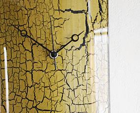 ハンガリー製ガラス時計OIX19X23