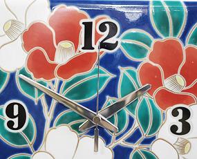九谷焼・陶器掛け時計