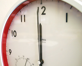 掛け時計 (温湿度計付き)LC09−11W