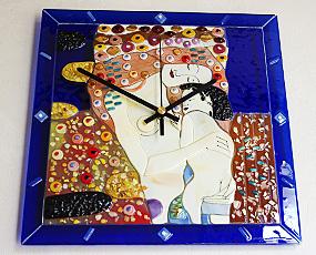 Sebino Arte ガラス時計 AR41-34R クリムト「母と子」