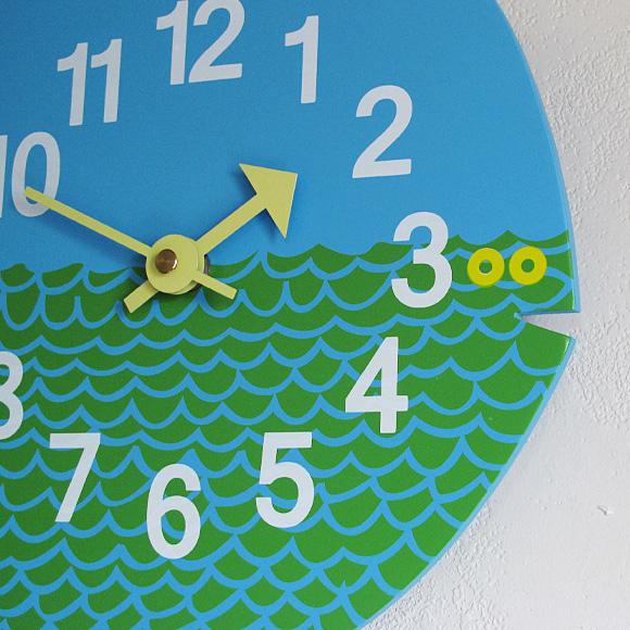 ジョージ・ネルソン 子供用掛け時計「フィッシュ」 (KC-GN091102)
