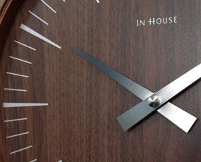インハウス/INHOUSEデザイン ラミネート・ウォールクロック(30cm)