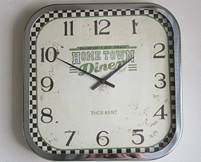 英国デザイン、トーマスケントのレトロ時計「ダイナー」 (OP-KC00)