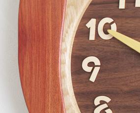 寄せ木振り子時計「ふくろう(特大)」(PK-F60-B)