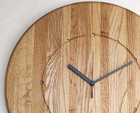 ハンドメイド寄せ木時計 大型掛け時計 宙 (PM-0020414)