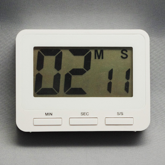 デジタル・キッチンタイマー「角・ホワイト」 (IG-31009)