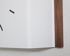 スチール製掛け時計「Steel wood」 (TL-PC11-21)