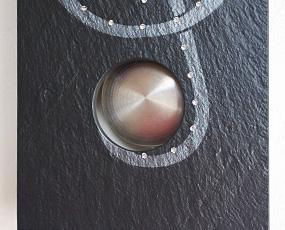 石の掛け時計「Vaerst2788」 ドイツ製 針色:シルバー (VA-2788)