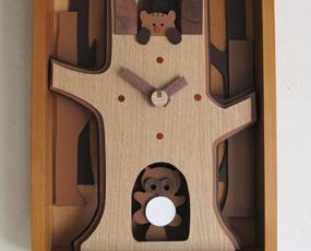 動物木製額時計・日本ブランド 振り子時計 (YG-AGC-0)