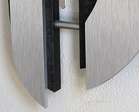 【 国内在庫 即納 】ドイツ AMS(エイエムエス) 社製 メタル調振り子時計7330