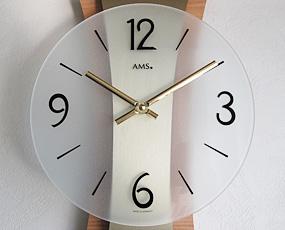 【 国内在庫 即納 】ドイツ AMS(エイエムエス) 社製 木調掛け時計9396