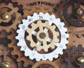 スケルトン掛け時計・六角