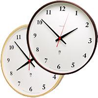 プライウッド電波掛け時計